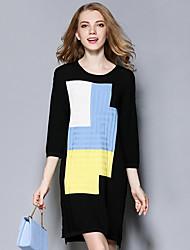 Women's Casual/Daily / Formal Simple Long PulloverPrint