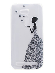 For ASUS ZB551KL ZB452KG Little Girl Pattern High Permeability TPU Material Phone Shell