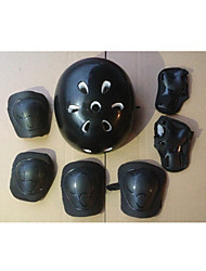 conjunto de capacete patins guardas acessório do carro equilibrado