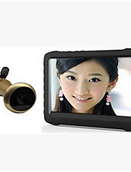 Wireless HD DVR Cat Eye 5 Inch Dynamic Monitoring Loop Video