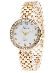 Mulheres Relógio de Pulso Quartzo Lega Banda Luxuoso Dourada Dourado