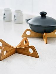 Bamboo shelf Pot  Insulation Pads Rack Cross Bamboo Pot Rack Removable Placemat Kitchen Supplies
