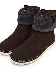 Men's Boots Fall / Winter Comfort Fabric Casual Flat Heel Slip-on Black / Brown / Yellow Sneaker