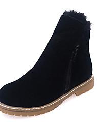 Mujer-Tacón Bajo-Confort-Botas-Vestido / Casual-PU-Negro / Gris
