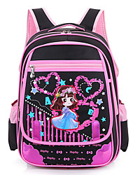 Kids School Bag Nylon Professioanl Use Black Fuchsia Blushing Pink