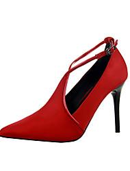 Women's Heels Summer Comfort Synthetic Casual Low Heel Buckle Black / Red / Gray / Almond / Burgundy / Khaki Others