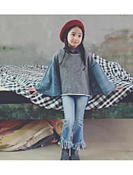Girl's Casual/Daily Solid Hoodie & SweatshirtCotton Winter / Fall Gray