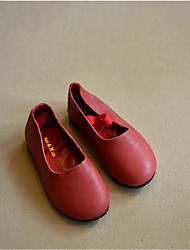 Girl's Flats Others Leather Casual Yellow Red