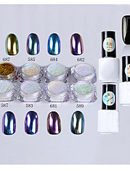 Manicure Mirror Mirror Pink Suit 8 Bottles of Nail Polish Glue Seal Bottom Glue Powder
