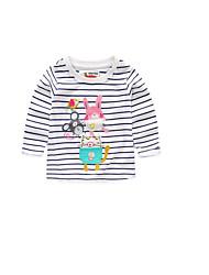 T-Shirt Lässig/Alltäglich Gestreift Baumwolle Frühling Herbst Kurzarm
