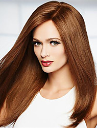 Brown Color Straight Synthetic Wigs For Afro Women