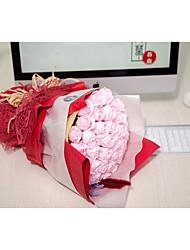 Fleurs de mariage Noué à la main Roses Bouquets Mariage La Fête / soirée Fleur séchée 50cm