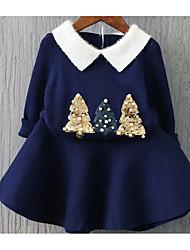 Mädchen Anzug & Overall-Party/Cocktail einfarbig Baumwolle Herbst Blau / Rot