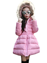 Girl's Casual/Daily Solid Down & Cotton PaddedSpandex Winter Black / Pink / Red
