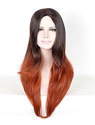 Cheap Ombre Curly Wig Two-Tone Black to Brown Synthetic Wigs for African American Black Women