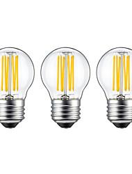 6W E26/E27 LED лампы накаливания G45 6 COB 560 lm Тёплый белый V 3 шт.