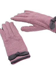 Wool Cashmere Touch Screen Gloves (Pink Purple)