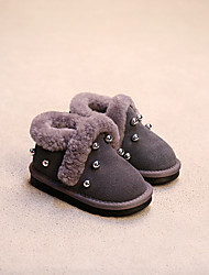 Girl's Boots Comfort Suede Casual Black / Gray
