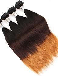 Âmbar Cabelo Brasileiro Retas 6 meses 4 Peças tece cabelo