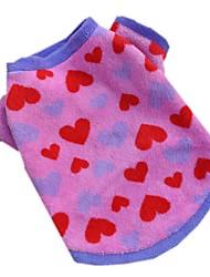 Chat / Chien T-shirt Rouge Rose Vêtements pour Chien Hiver / Printemps/Automne Cœur Décontracté / Quotidien