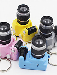 Random Delivery Mini Camera Keychain / Strange New LED Light Emulation SLR Camera Car Pendant