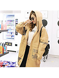 Sign # 2717 Korean fashion wild long paragraph casual loose coat printing letters Hooded Jacket Women