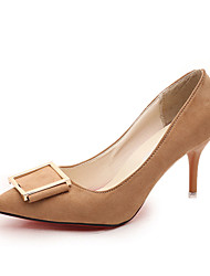 Damen-High Heels-Lässig-PU-Stöckelabsatz-Komfort-Schwarz / Braun / Rosa