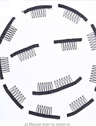 60 pcs/Lot clips in human hair extension and hair clip for wigs small wire spring comb for wig/hair weft Wig Combs and Clips For Wig Cap