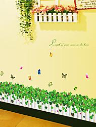 Botanique / Mode / Floral Stickers muraux Stickers avion Stickers muraux décoratifs,PVC Matériel Amovible Décoration d'intérieurWall