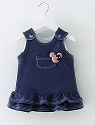 Baby Casual/Daily Solid Dress,Cotton Winter Fall-