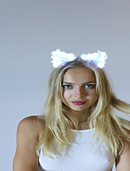 Light Up Led Cat Ear Emitting Headband Led Light Garland Halloween Christmas Holiday ItemsHair Band Led Antlers Headband