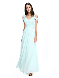 2017 Lanting Bride® Ankle-length Chiffon Elegant Bridesmaid Dress - A-line Straps with Criss Cross