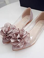 Women's Flats Summer Comfort PVC Casual Flat Heel Translucent Heel Flower