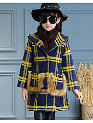 Girl's Casual/Daily Striped Suit & BlazerCotton Winter / Fall Red / White / Yellow