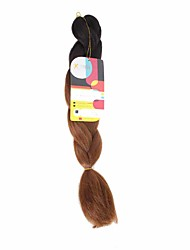 Jumbo Braids Black to Brown Two Tones Ombre Synthetic Hair Braids 18inch Kanekalon 115g