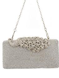 Women PU Formal / Event/Party / Wedding Evening Bag/Purse/Shimmering Diamonds Hand Bag/Rhinestones/Peafowl/Clutch/Bird