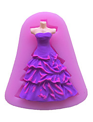 Dress The Ritual Clothing Type Candy Fondant Cake Molds  For The Kitchen Baking Molds 7.9*5.5*1.2cm