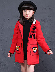 Girl's Casual/Daily Embroidered Suit & Blazer,Rayon Winter Pink / Red / Yellow