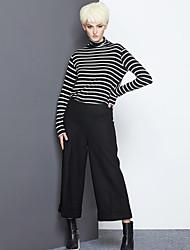 De las mujeres Pantalones Chinos-Simple Rígido-Algodón