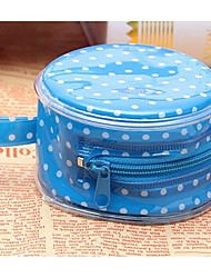 Women Cosmetic Bag Cotton Professioanl Use Fuchsia Blue Blushing Pink