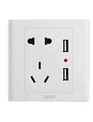 GB Five-Hole Dual USB Socket Panel