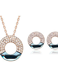 Thousands of colors   Jewelry Necklaces / Earrings Jewelry set Crystal Fashion Daily 1set Women -5454