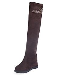 Women's Boots Fall / Winter Comfort Fabric Dress / Casual Flat Heel Bowknot Black / Brown Cycling / Walking