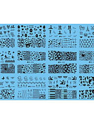 12 designs/sheet, 6sheets/set Nail Sticker Art Autocollants de transfert de l'eau Maquillage cosmétique Nail Art Design