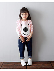 Girl's Casual/Daily Print Hoodie & SweatshirtCotton Spring / Fall Pink