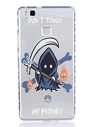 Pour huawei p9 p9 plus sombre motif tpu matériel tpu boîtier de téléphone hautement transparent pour huawei p9 p9 plus y5ii y6ii