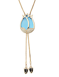 New Fashion Rhinestone Long Pendant Necklaces