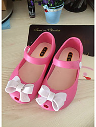 Girl's Sandals Summer Comfort PVC Casual Flat Heel Bowknot Blue / Pink / Red Others