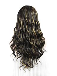 destaques castanhos imstyle qualidade 24''high frente perucas onda de renda sintética loira resistentes ao calor