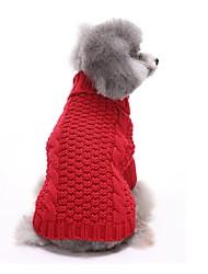 Katzen / Hunde Kostüme / Mäntel / Pullover / Kleider Rot / Gelb Hundekleidung Winter / Frühling/Herbst einfarbigNiedlich / Cosplay /